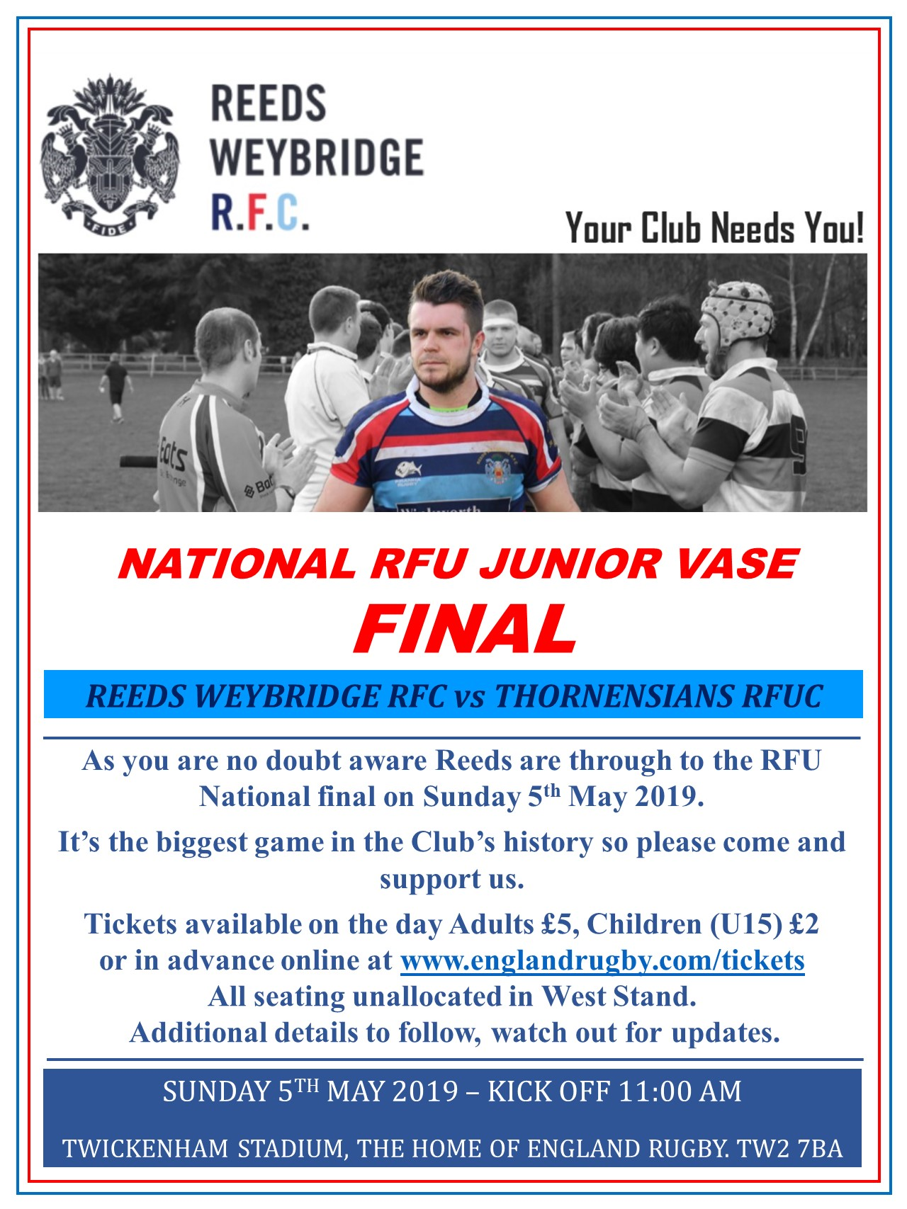 RFU Nat Final 5th May Poster
